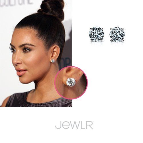 Do You Love Kim Kardashian S Style As Much We Get Her Look With Jewlr Half Carat Solitaire Stud Earrings Diamond