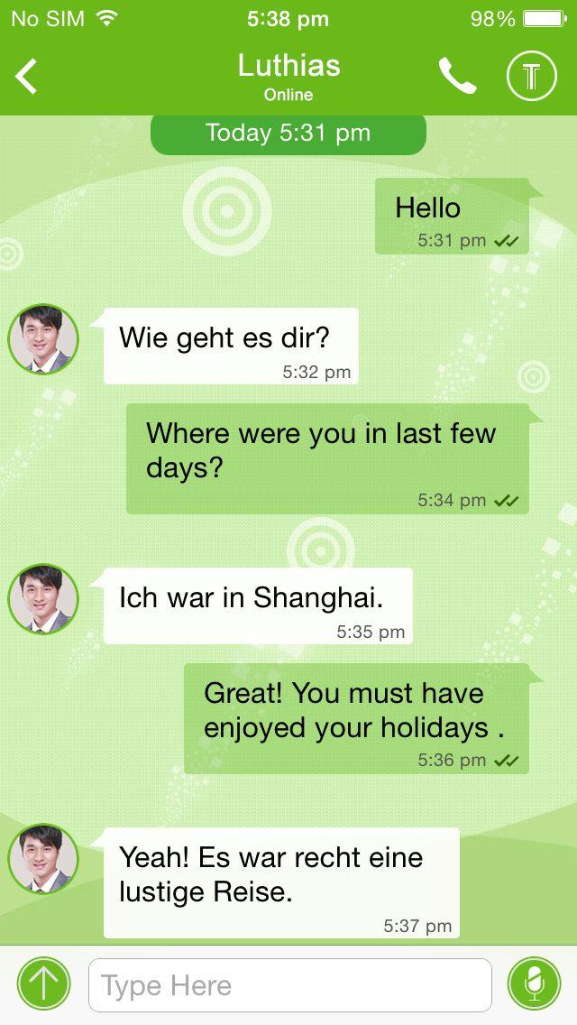 German chat online