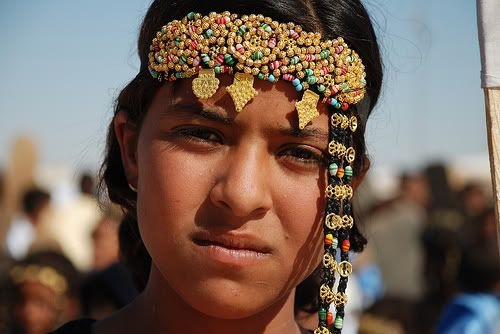 A young Sahrawi girl from the Haratin tribe in the Western ...