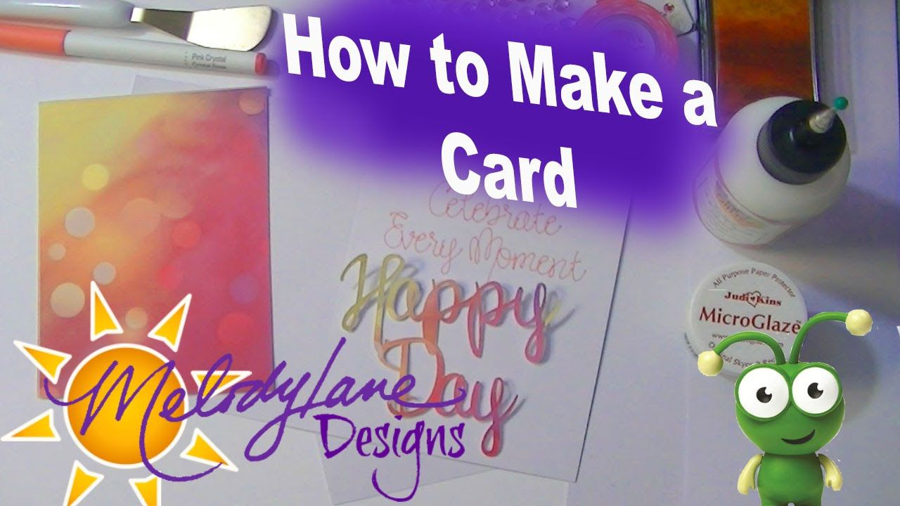How to make a card using Cricut Design Space. Among other