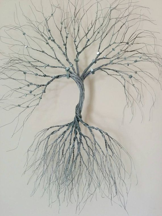 Silver Wire wall Art tree of life ( wall decoration). Decorative ...