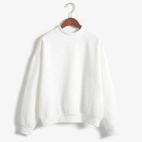 Women Girls Pullover Casual Hoodies Sweatshirt Solid Candy Color Coat Jacket Outwear Tops