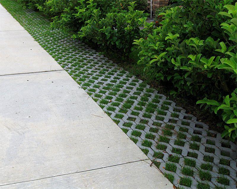 Permeable Concrete Pavers and Turfstone Idea  Photo