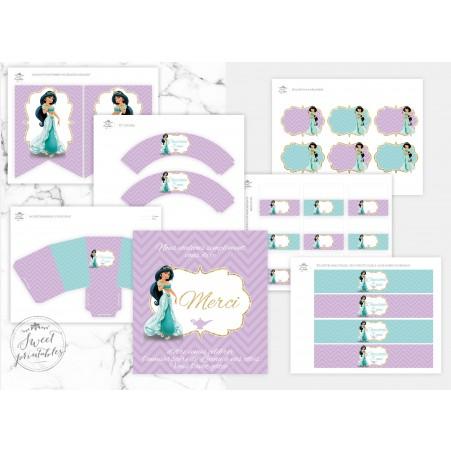 X2 Personnalisé Anniversaire Bannière Aladdin Design Enfants Enfants Fête Décoration 4