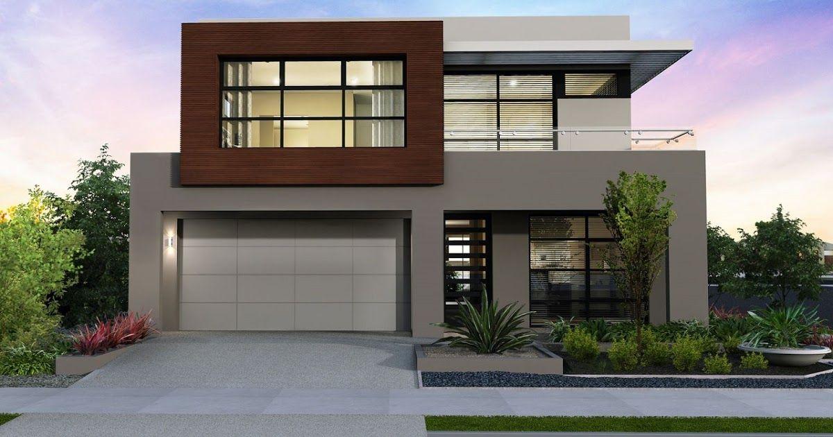 fachada de casa moderna bonita pequena dos