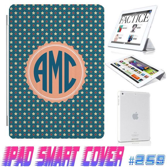 USA Custom Independence Day July 4 star Monogram  by GeckoDesignz, $12.99 #ipad #ipadcase #ipadcover #case #cover #monogram #customize #anchor #cute #girl #smartcover #ipadsmartcover #Design #creative https://www.etsy.com/shop/GeicoDesign