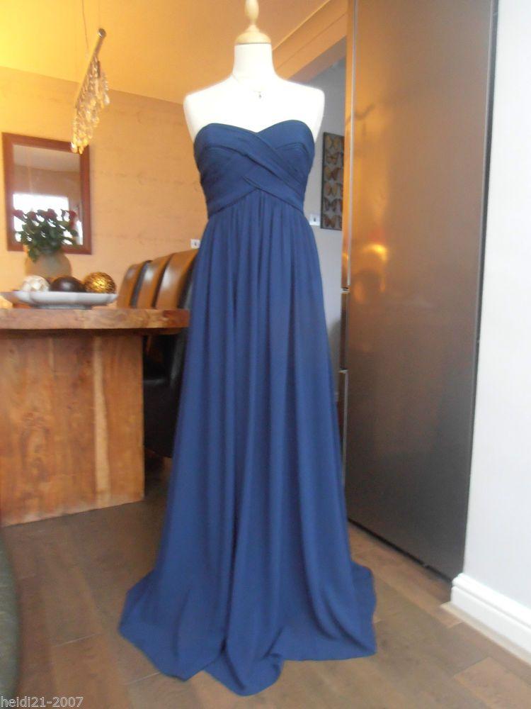 Coast tanya french navy maxi long evening dress size 12 | Navy maxi ...