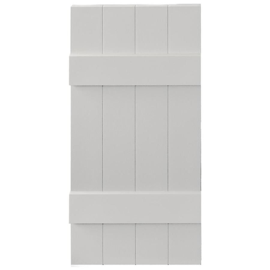 Vantage 2 Pack Paintable Board And Batten Vinyl Exterior Shutters (Common:  14 In X 31 In; Actual: 14.0312 In X 30.875 In