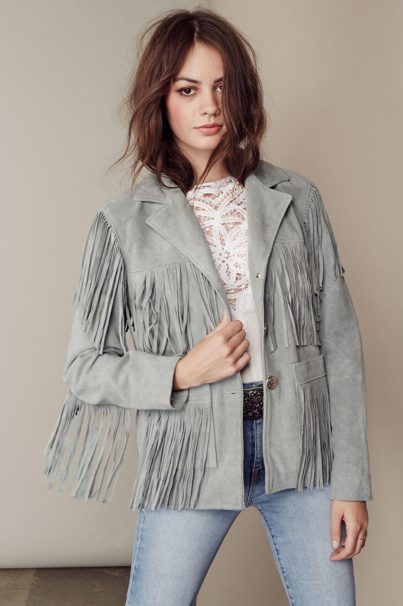 FRINGE SUEDE JACKET (With images) Womens fashion jackets