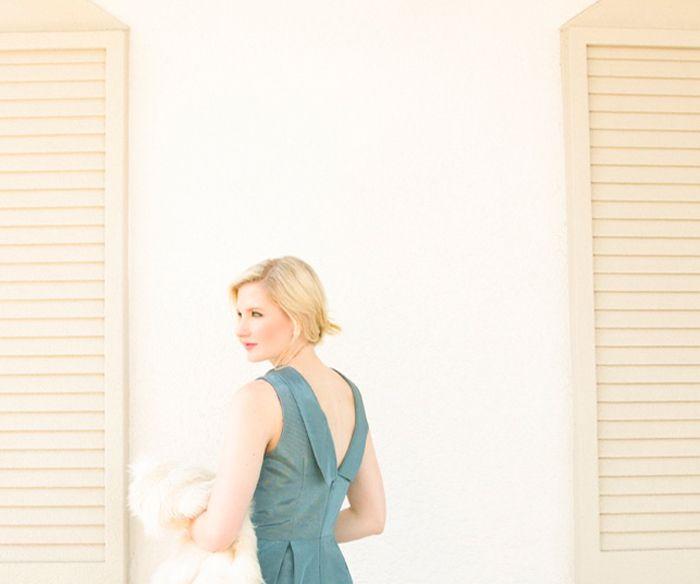 Ashley Brook from Ashley Brook Designs in the Camilyn Beth 'Amelia' Dress in William Blue.  | FW15