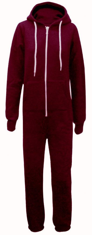 2b7ef802f7e7 A MAROON RED hooded TRACKSUIT onesie suitable for both men and women  Smaller sizes also perfect for school teams and teens This MAROON onesie is