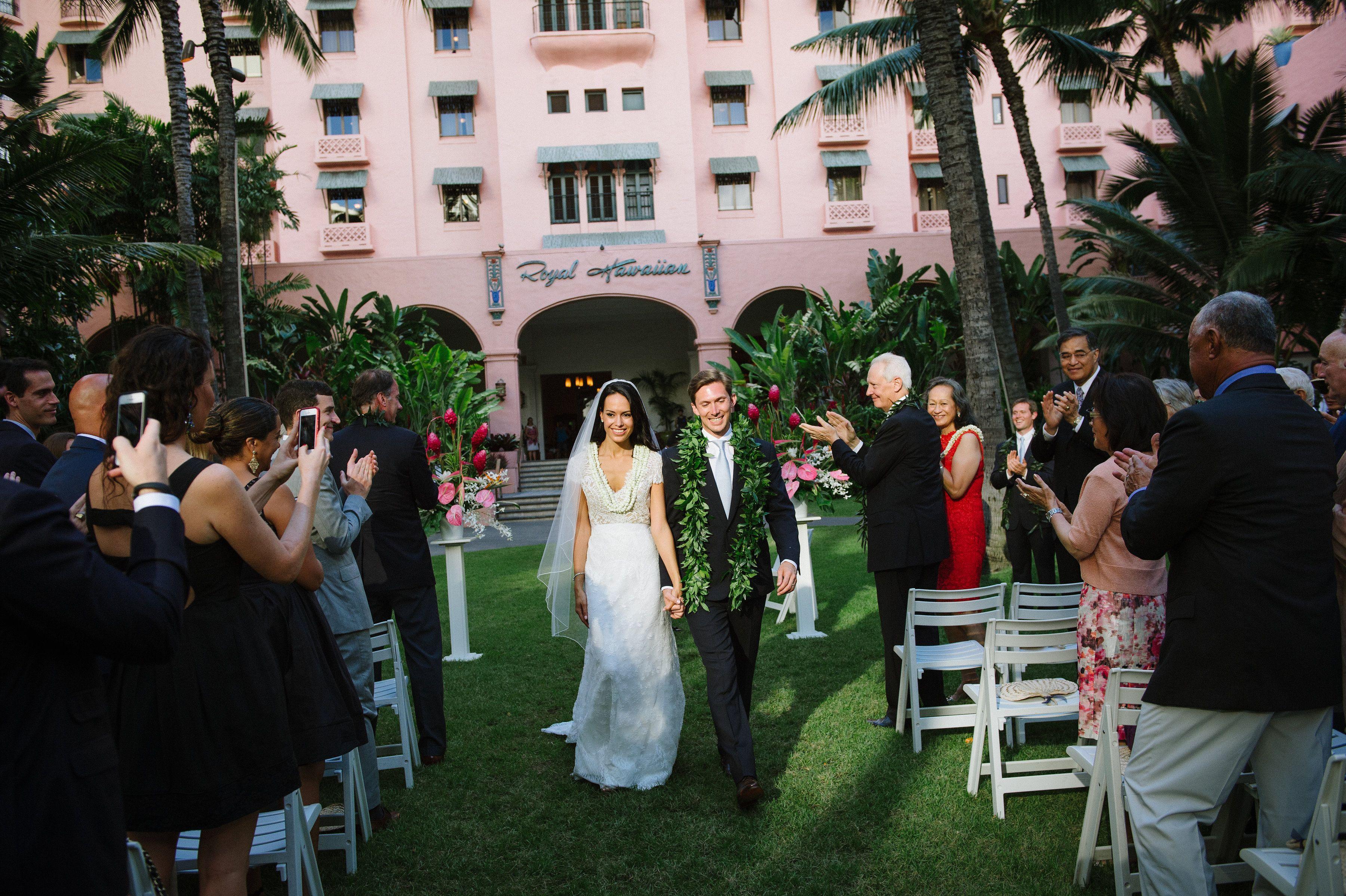 Hawaii Wedding Royal Hawaiian Ceremony Bouquet Lei Flowers Watanabe Fl Photography Derek Wong