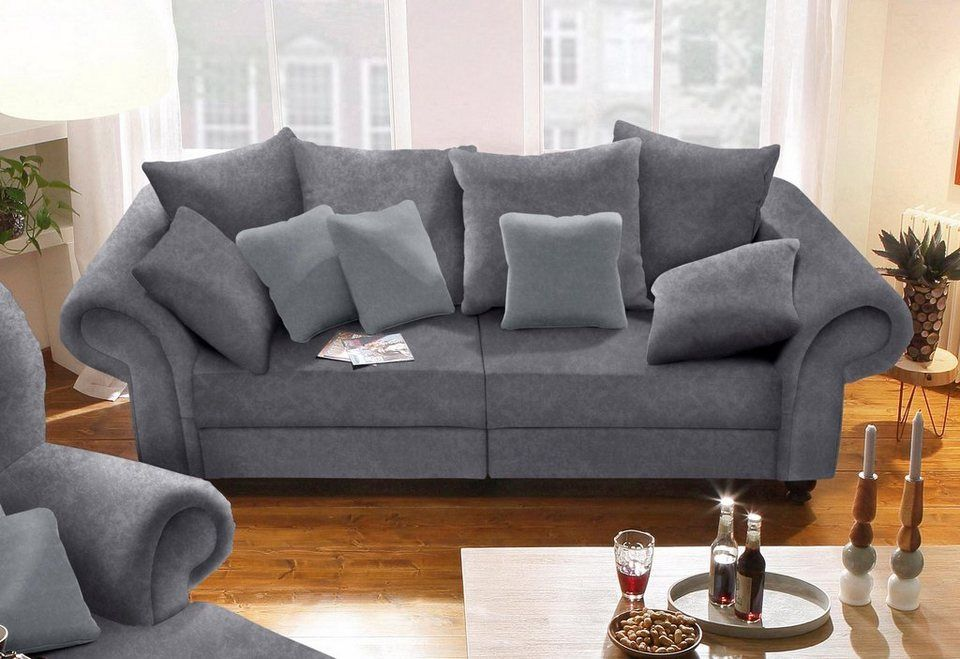 Home Affaire Big Sofa King Henry In Legerer Polsterung Und