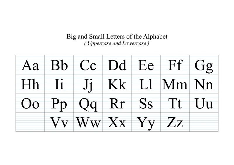uppercase and lowercase letters for children k5 worksheets alphabet and numbers learning. Black Bedroom Furniture Sets. Home Design Ideas