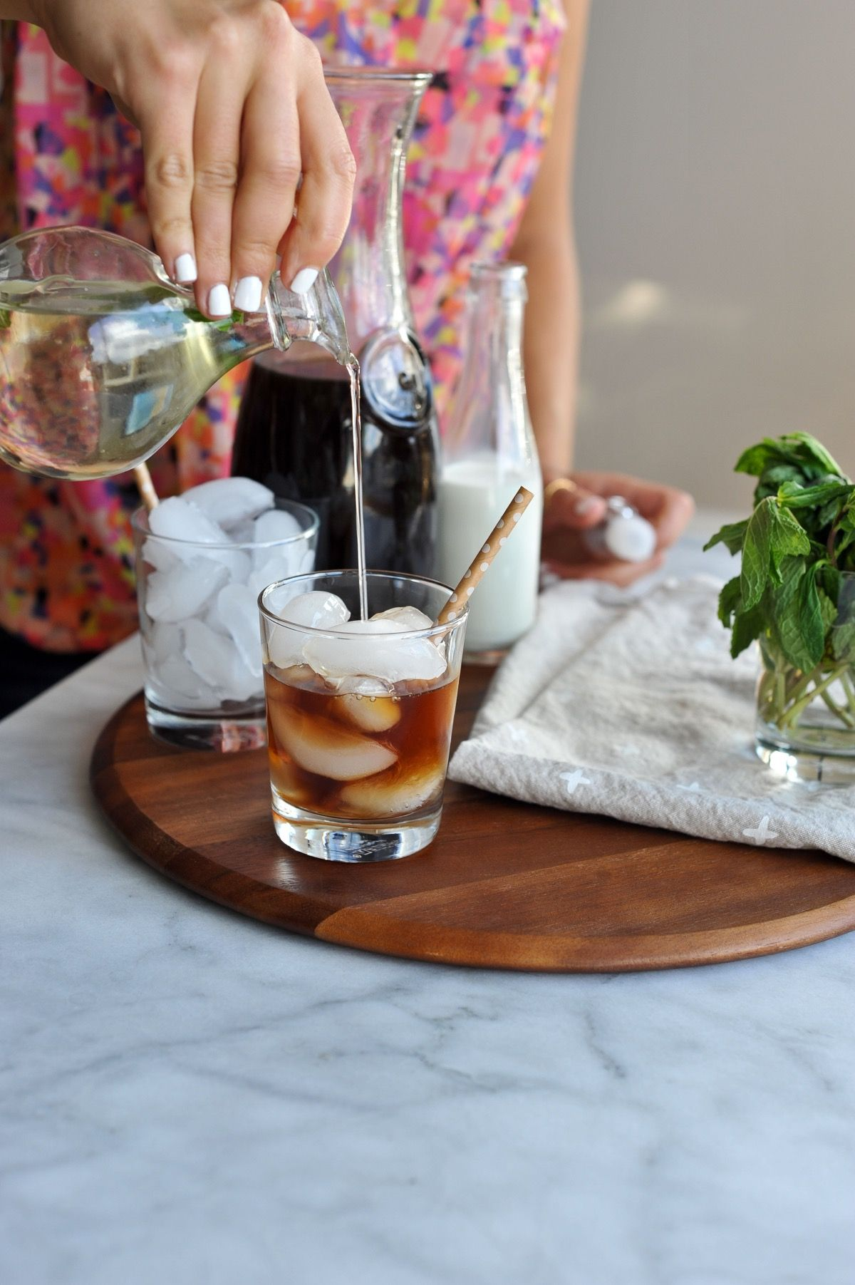 How to make mint simple syrup and a mint coffee recipe