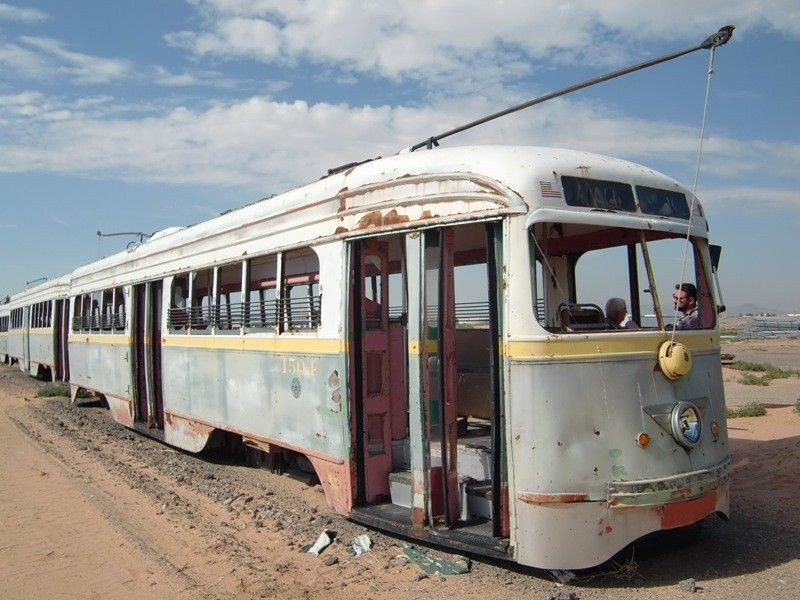 Transit, Streetcar, Trolley El Paso PCC 1504 Rail car