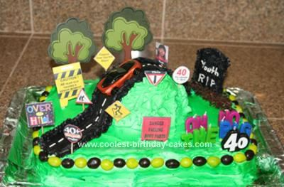 Funny Over the Hill Birthday Cake Idea