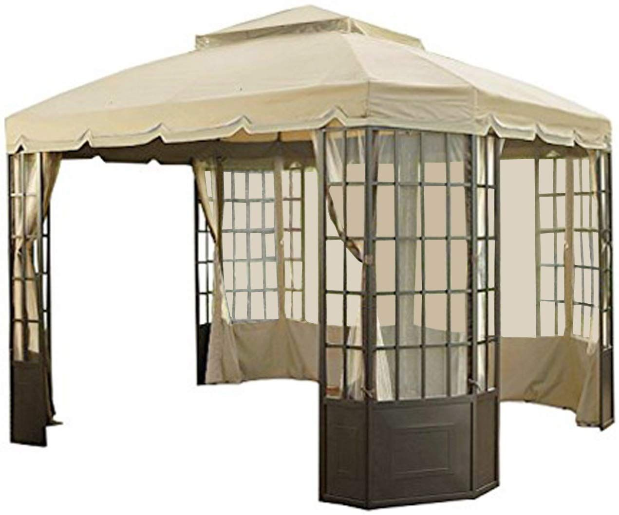 Garden Winds Replacement Canopy Set For The Sears Bay Window Gazebo With Ultra Stitch And Dura Pockets Click Image For Gazebo Replacement Canopy Bay Window