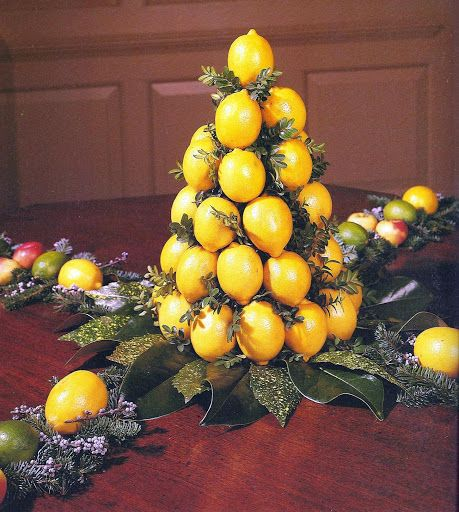 Williamsburg Lemon Cone Consists Of Cone Shaped Wooden Form 10 Inches High 5 Inches W Colonial Williamsburg Christmas Williamsburg Christmas Christmas Table