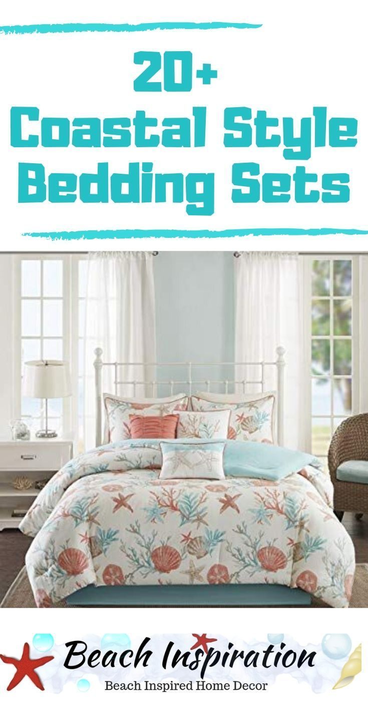 20 Coastal Bedding Sets For Beach Themed Bedroom #coastalbedrooms