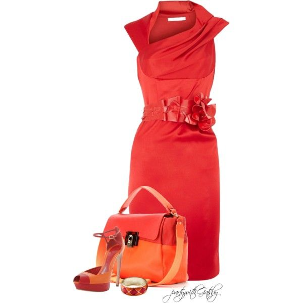 Pink and Orange, created by partywithgatsby on Polyvore