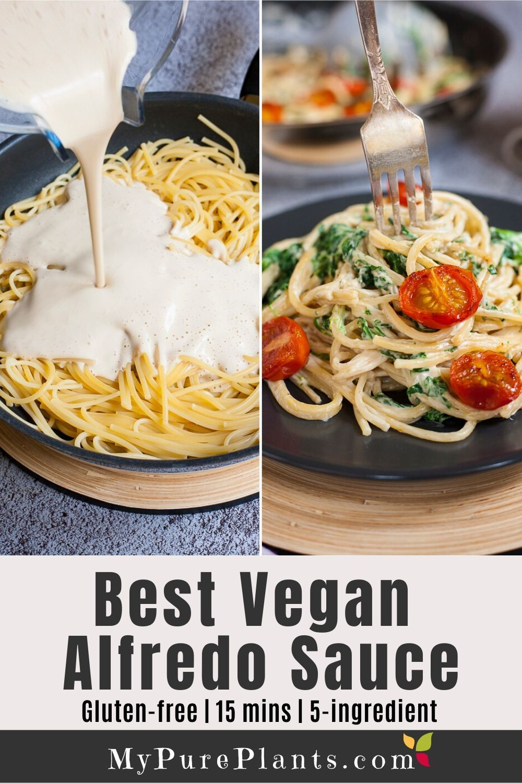 Easy vegan alfredo sauce oilfree in 2020 vegan