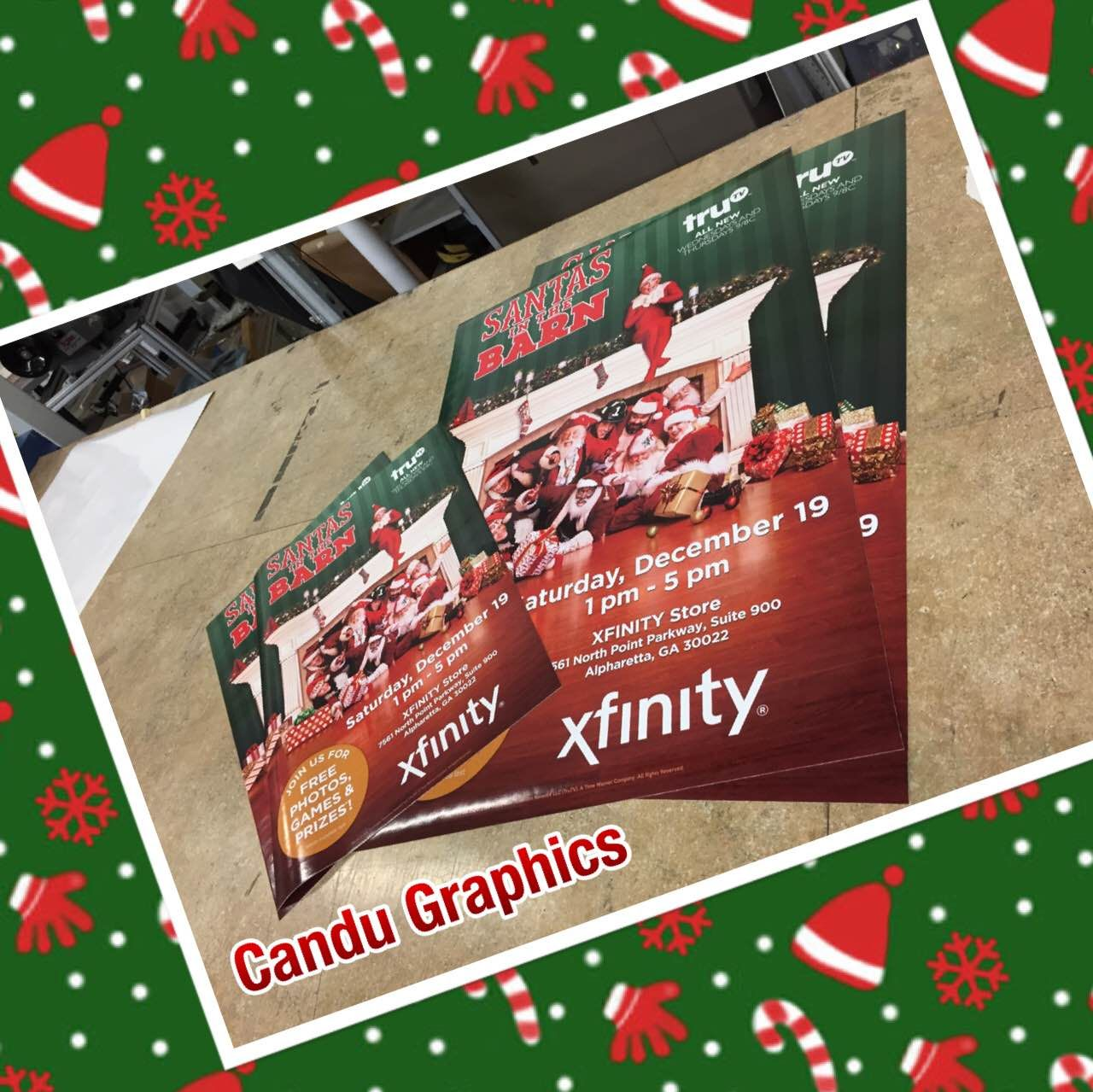 Get your business into the #holidayspirit with custom #window #cling #signs #decal #busines #holidayseason #candugraphics