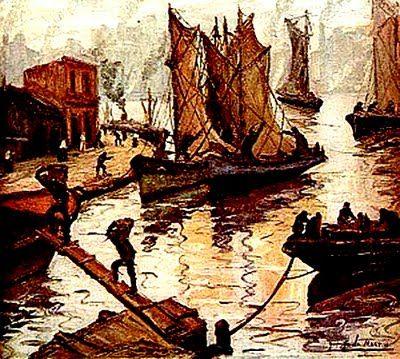 Día de invierno - Benito Quinquela Martín (1890-1977), argentino.