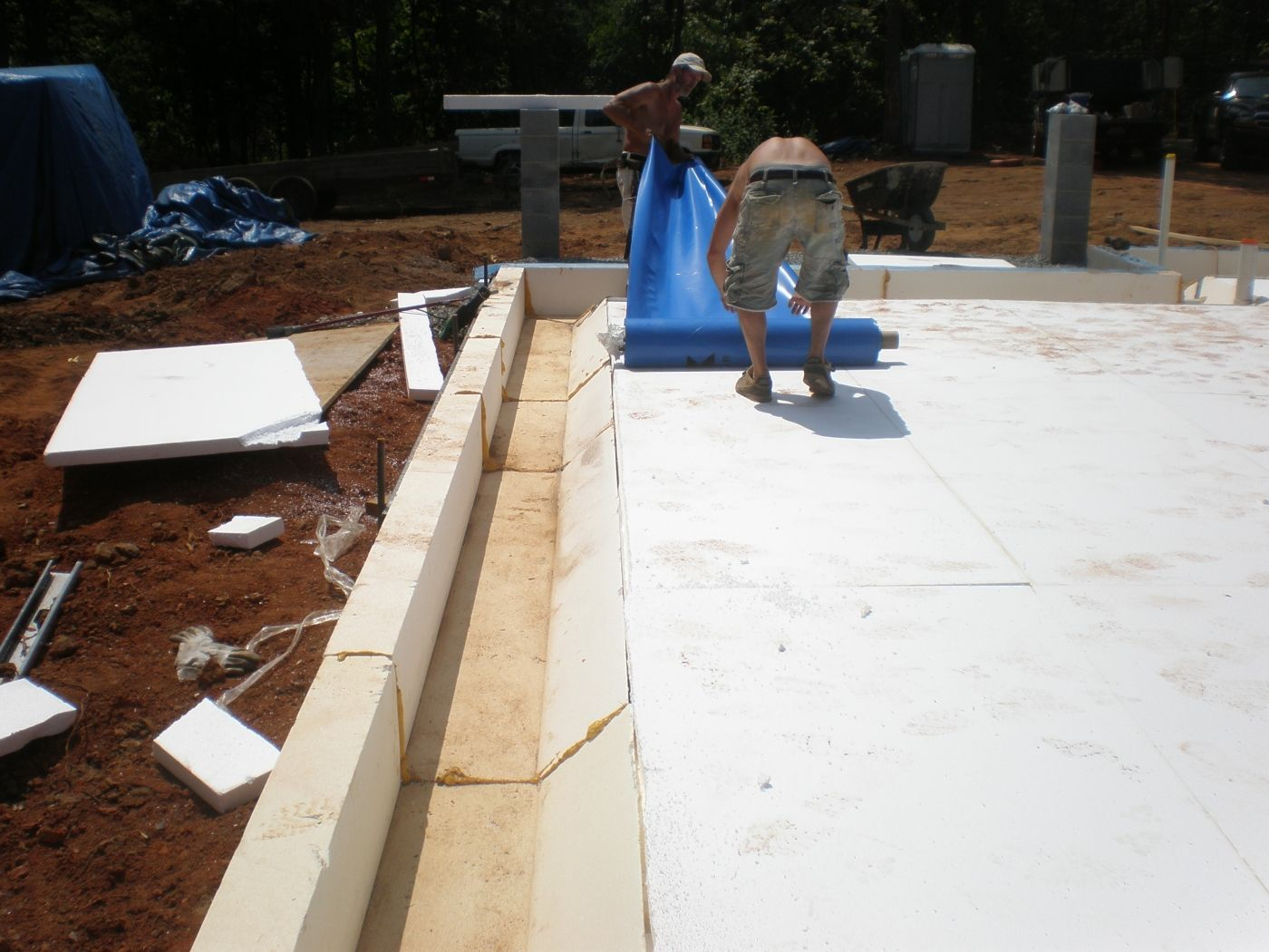 The eps foam shown here serves two purposes it was used for Foam concrete construction