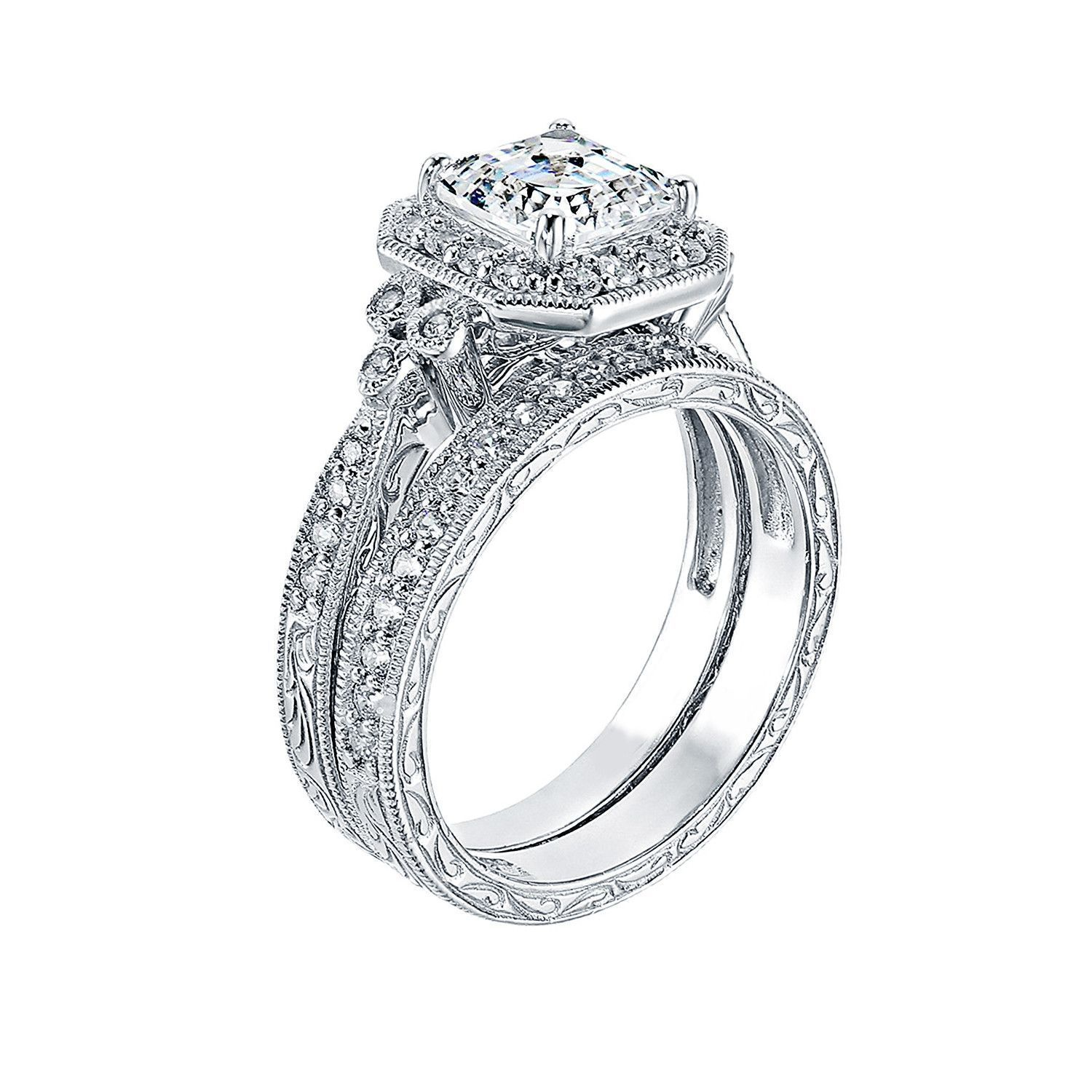 b67ee42f0d8 Capture a classic vintage look and feel to this beautiful Asscher ...