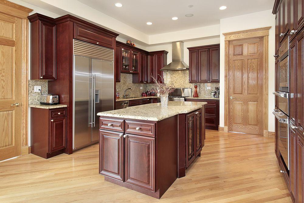 "Kitchen Floor With Dark Cabinets 43 ""new and spacious"" darker wood kitchen designs & layouts"