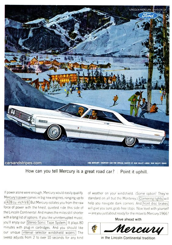 1966 Mercury - How can you tell Mercury is a great road car? - Original Ad
