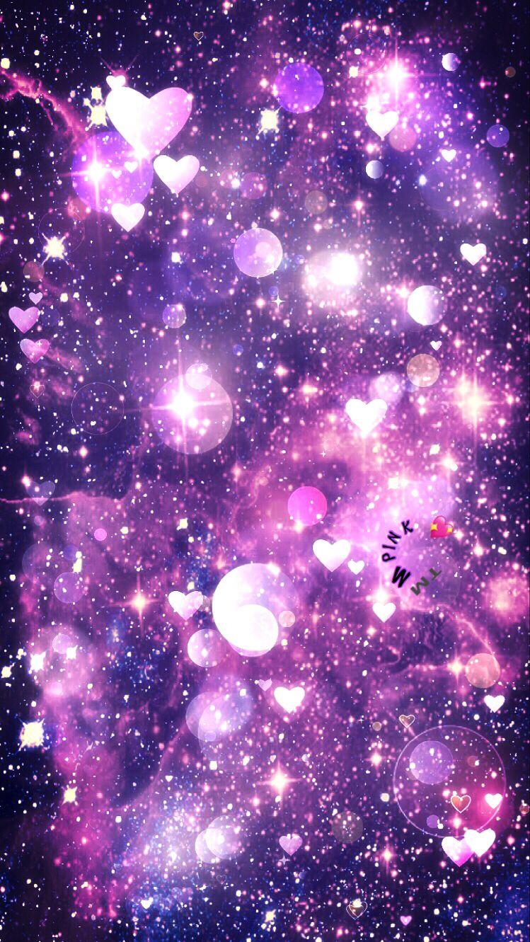 Hearts Bubbles Galaxy Wallpaper Androidwallpaper Iphonewallpaper Wallpaper Galaxy Sparkle Glitter Glittery Wallpaper Galaxy Wallpaper Planets Wallpaper