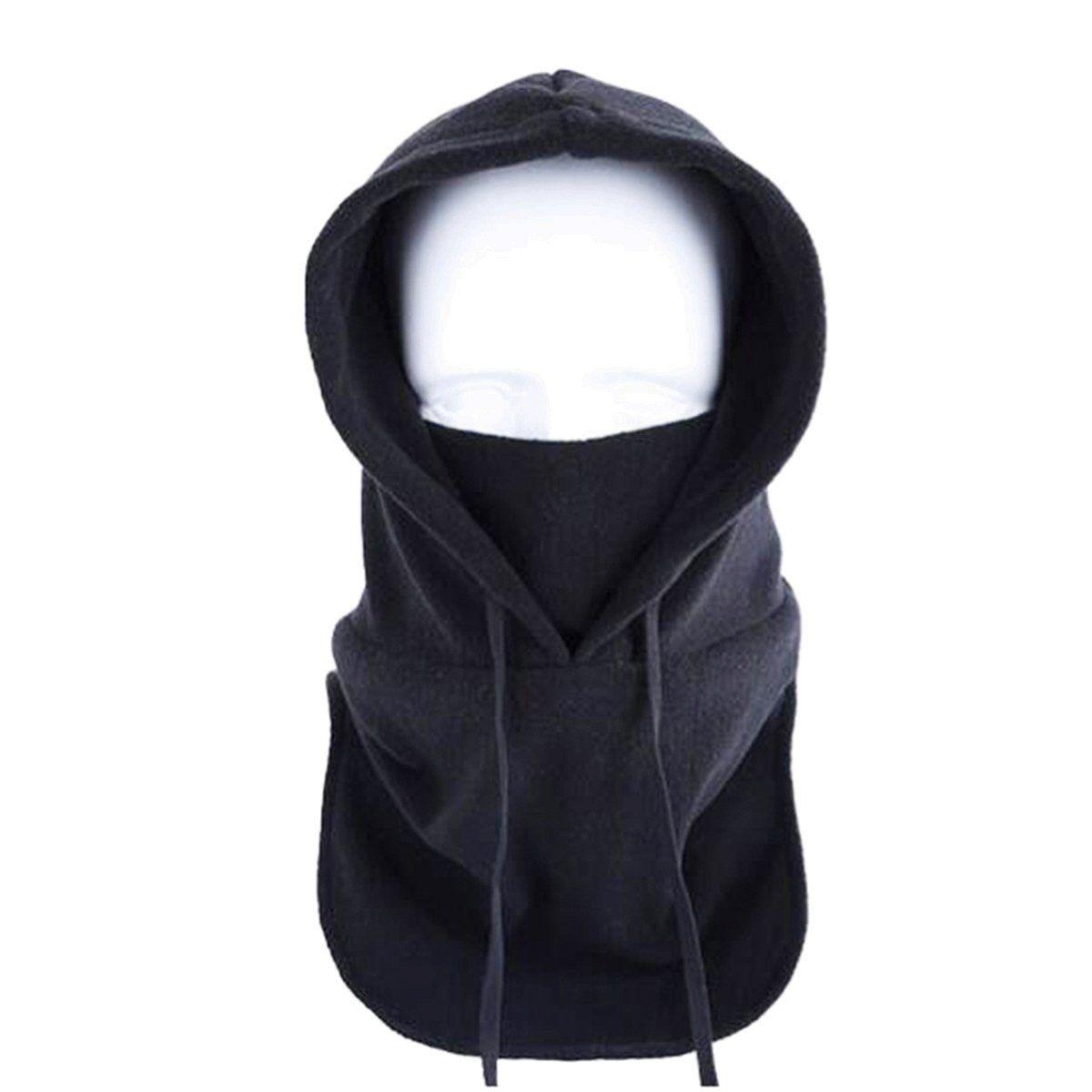 0eb0c9983a5 Triwonder Thermal Fleece Balaclava Hood Police Swat Ski Bike Wind Stopper  Mask (Black). Half Face ...