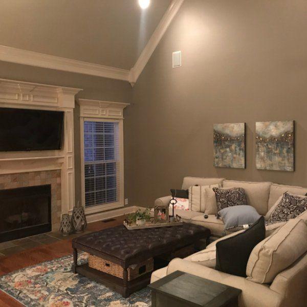 outstanding mega greige living room | Walls-Mega Greige Ceiling-Accessible Beige | Home Ideas in ...