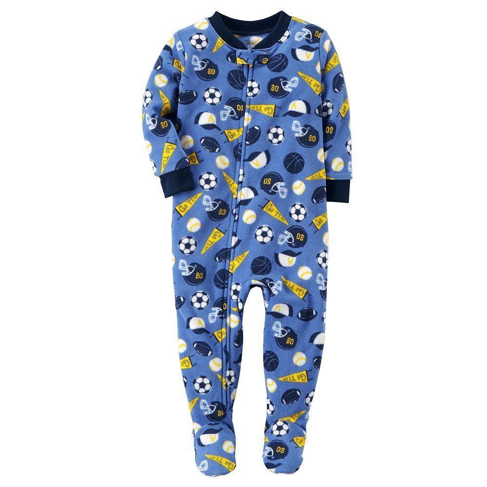 cef19b829 Baby Boy Carter s Sports Fleece Footed Pajamas