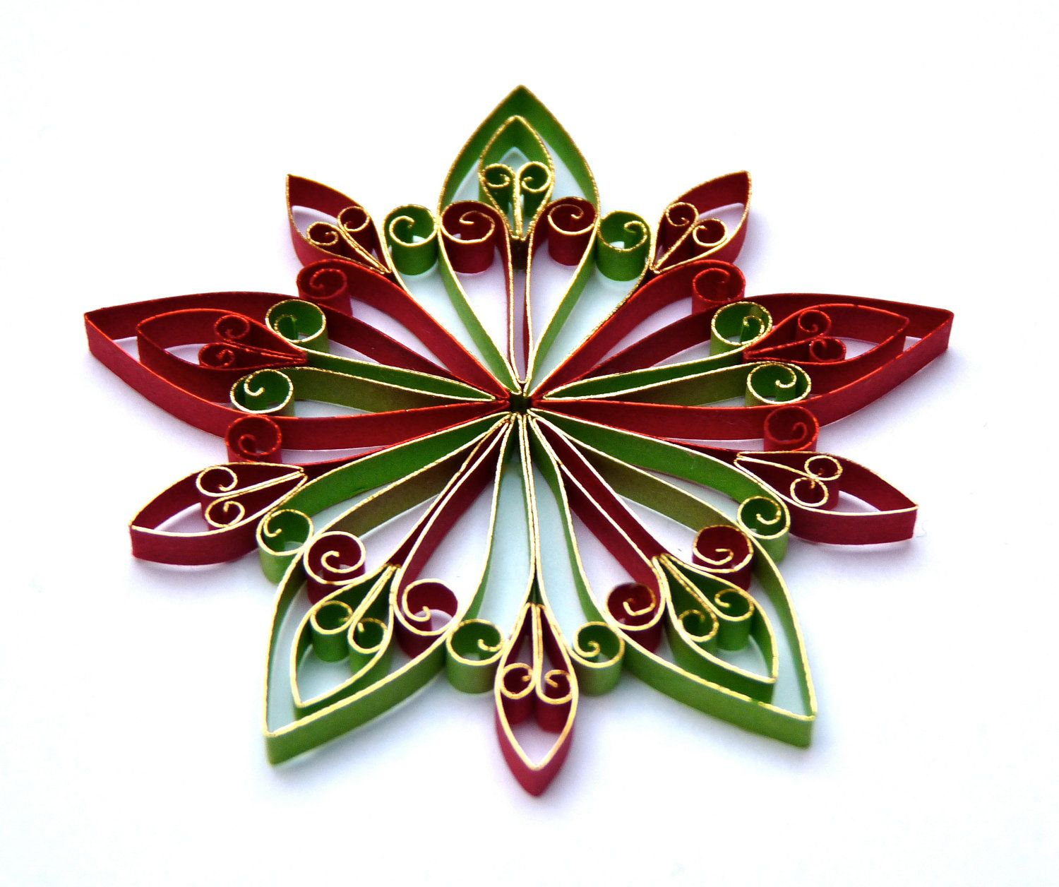 Christmas decoration eco friendly via for Decoration quilling