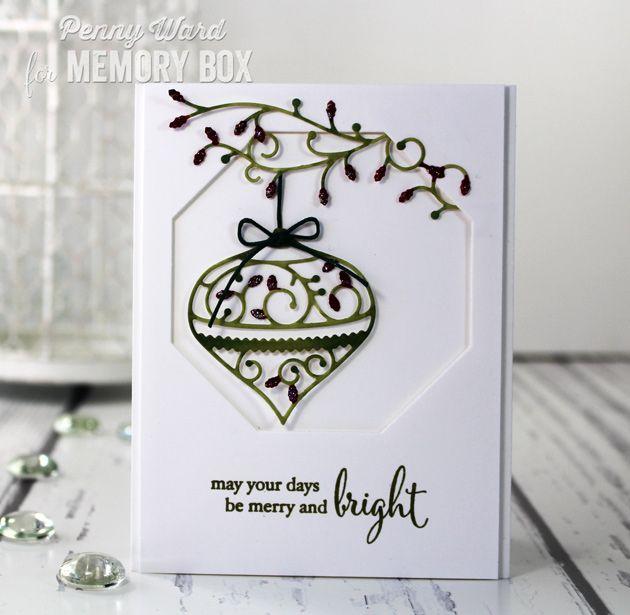 Elegant Christmas card by Penny Ward