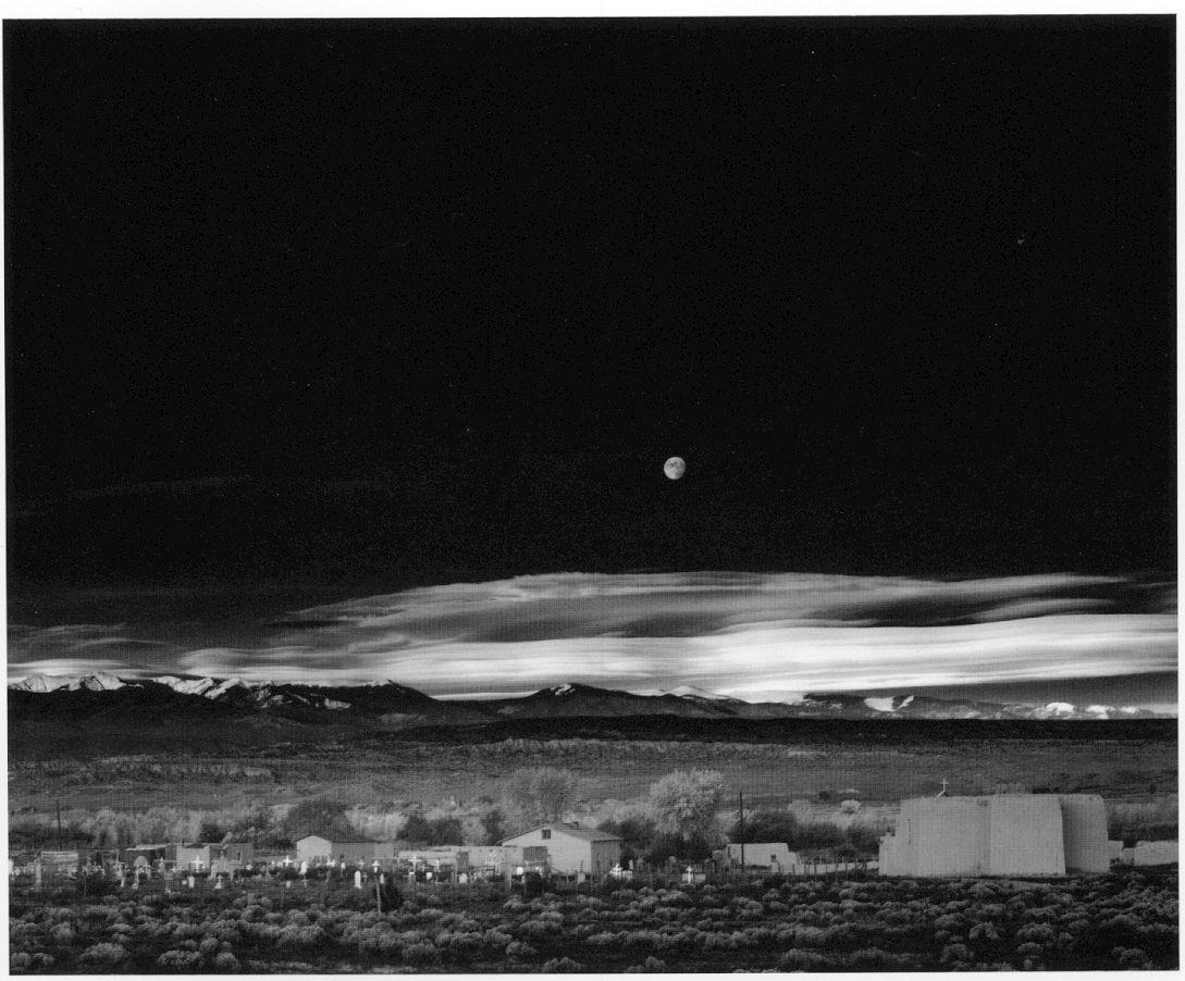 Ansel Adams Moonrise over Hernandez, NM October 31, 1941.. This ...