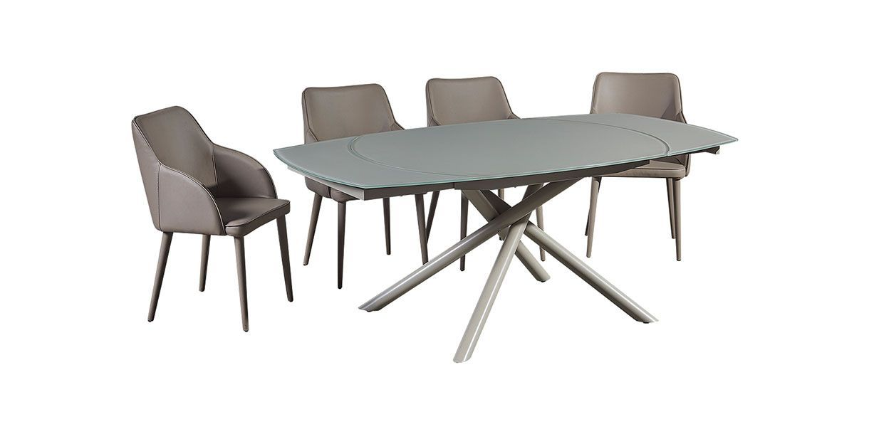 Astro Extendable Dining Table Gray Extendable Dining Table