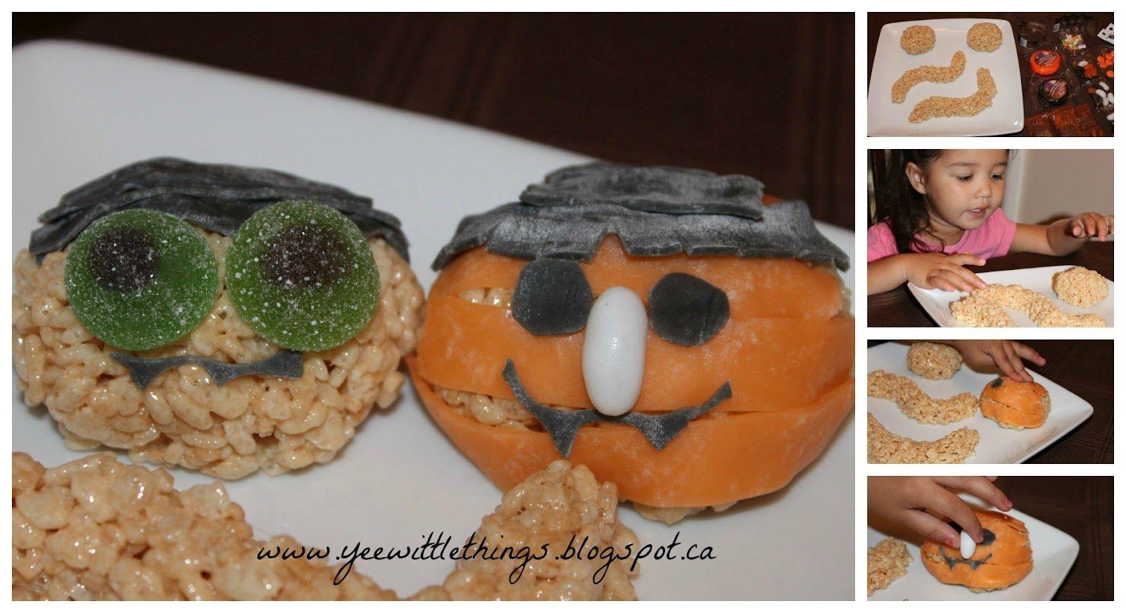 "Kellogg's @Rice Krispies® ""Spooktacular"" Treats!  So EASY & so fun!!"