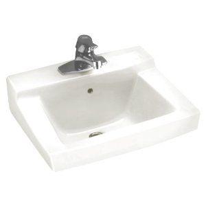 replace basement sink  american standard   declyn wall mount bathroom sink in white     home depot canada   53 from amazon  american standard 0321 026 020 declyn 4 inch      rh   pinterest com