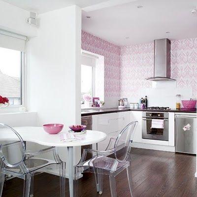 Clever Storage Küchendekoration, Küchendesign, Rosa küchen