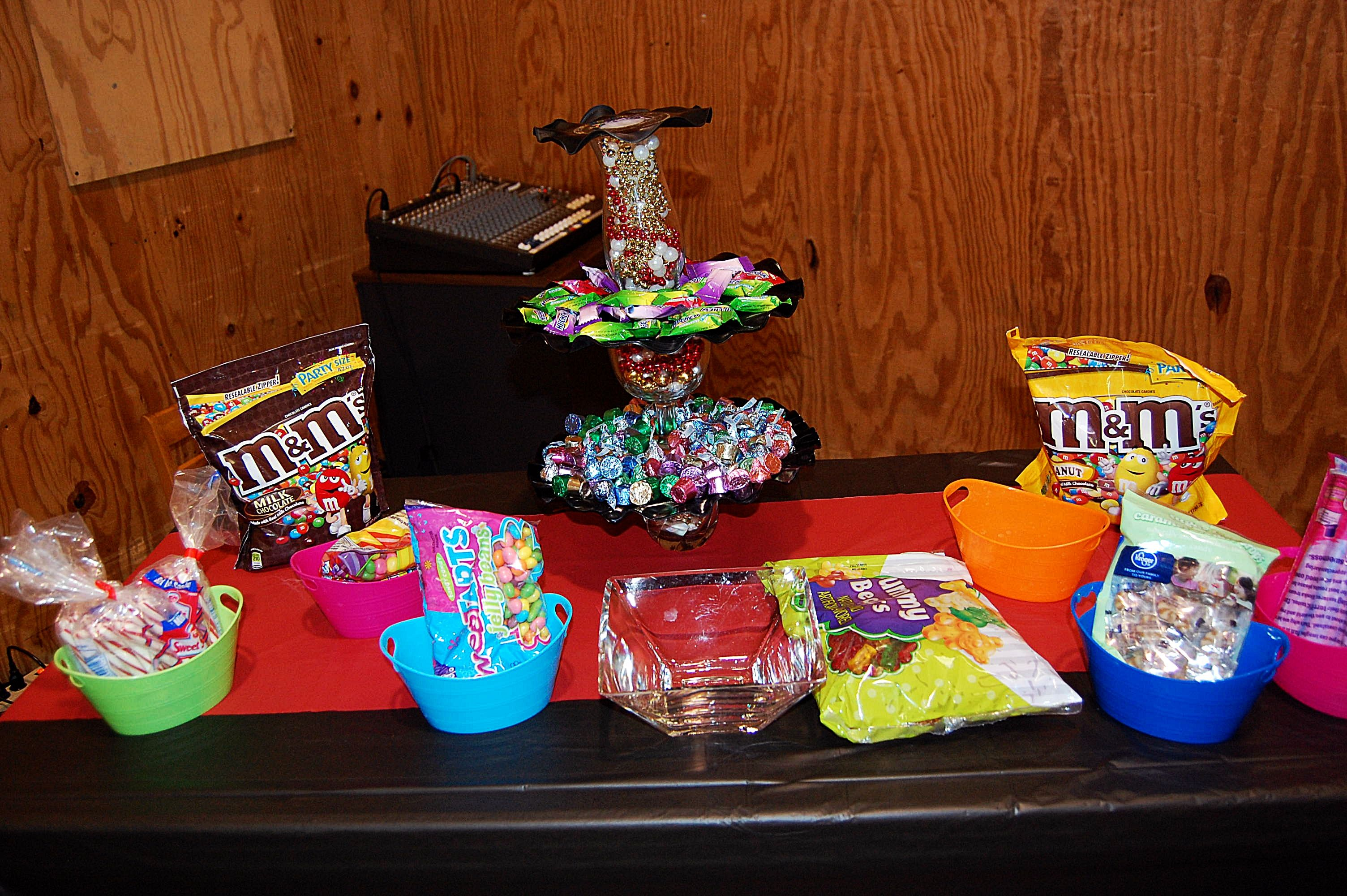 The candy table.