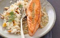 Cuisinez un pavé de saumon au curry vert et noix de cajou