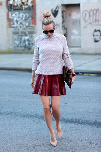 Knit and Leather by BrooklynBlonde1, via Flickr
