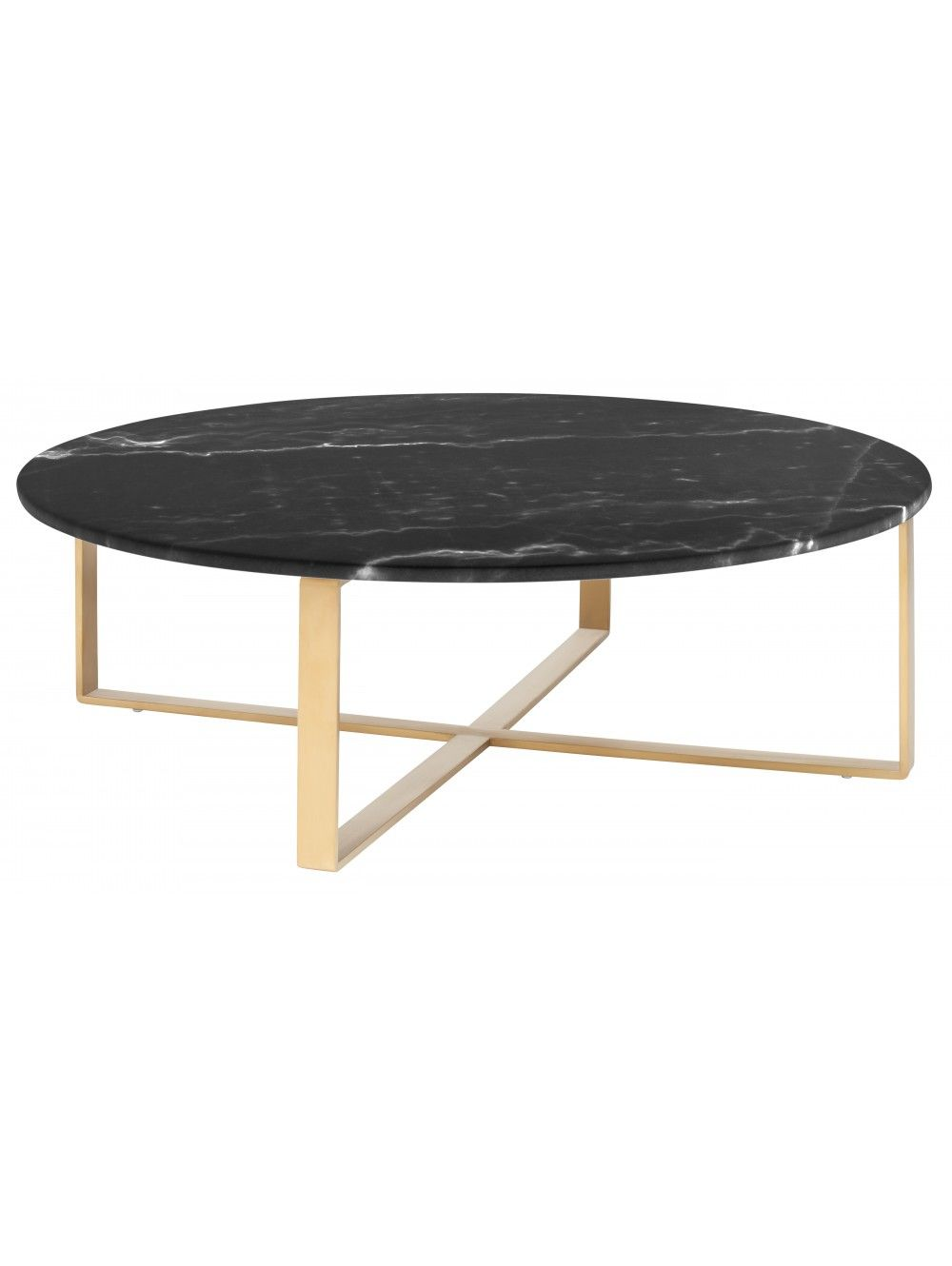 Allie Coffee Table, Black Marble