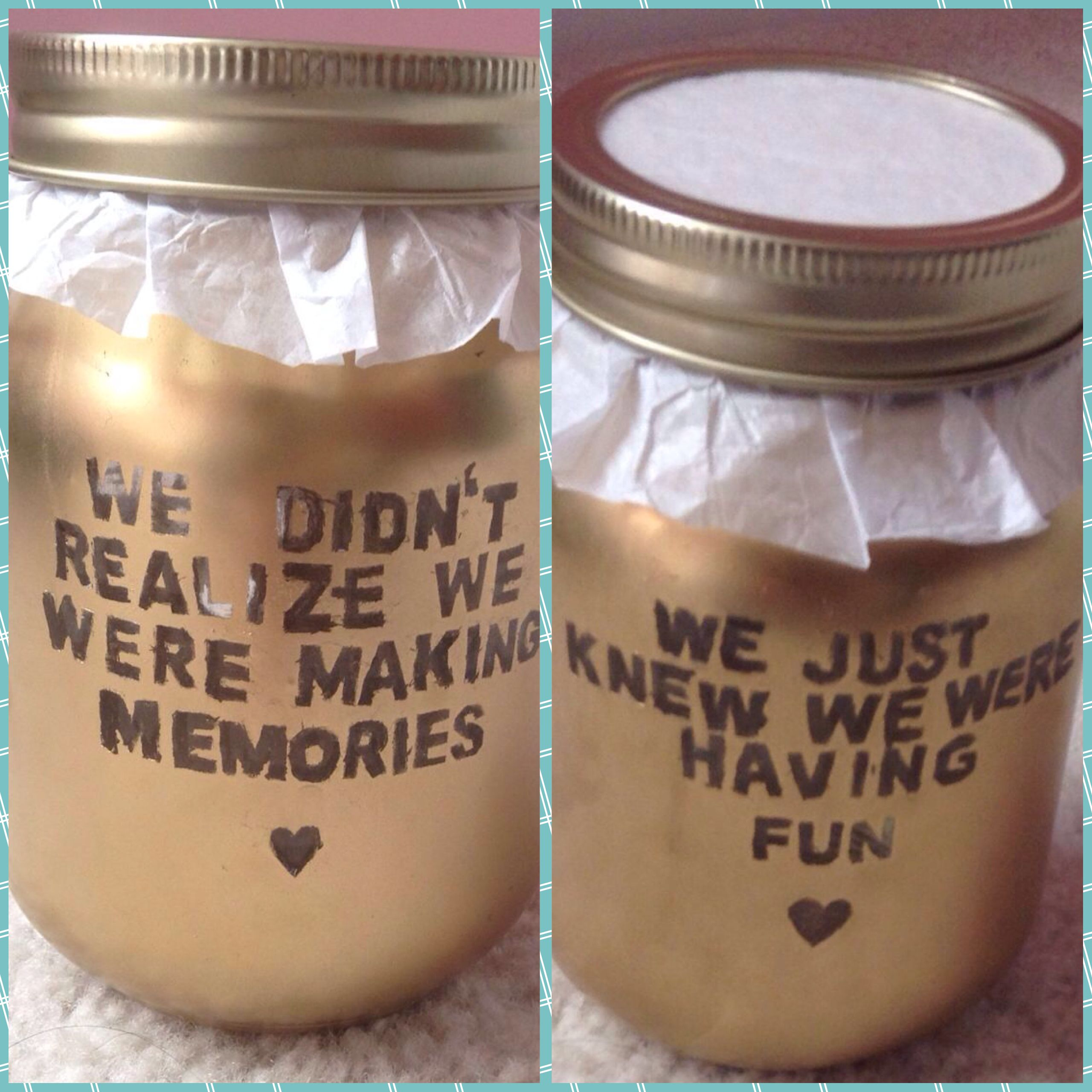 Diy Memory Jar Memory Jar Memory Jar Gift Cute Anniversary Gifts