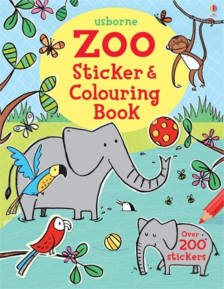 Zoo sticker and colouring book | Animal books for children ...