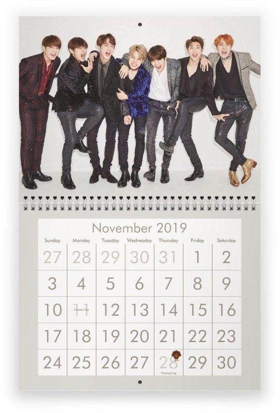 Bts 2019 Calendar Etsy Calendario Bts Imprimir Sobres